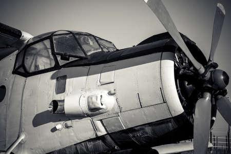 Old vintage jet engine