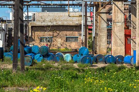 toxic: Several barrels of toxic