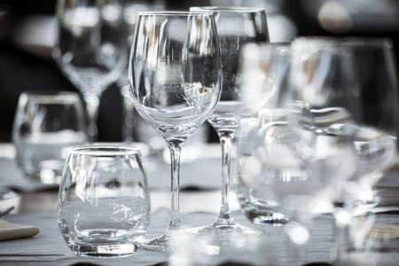 wine and dine: Elegant table set up for dinning room