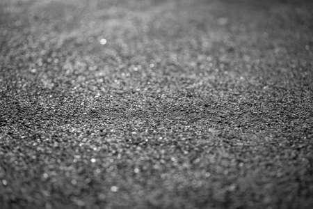 tar paper: Asphalt of a road closeup photo Stock Photo
