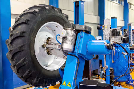 wheel balancing: Wheel balancing close up photo