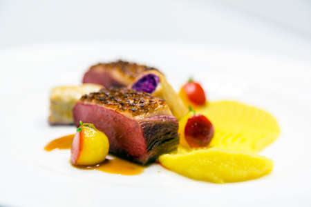 Delicious gourmet food close up Фото со стока