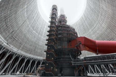 큰 굴뚝 열 발전소