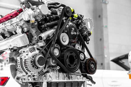 Turbo car engine close up Stock Photo