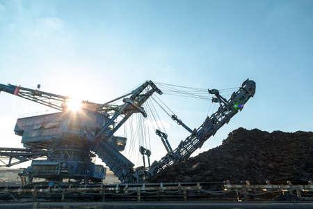 coal mining: Mining machinery in the mine closeup