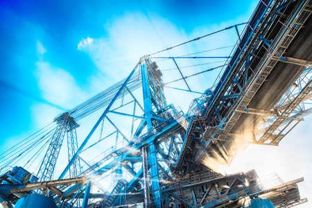 Machines d'exploitation minière dans le gros plan de la mine Banque d'images