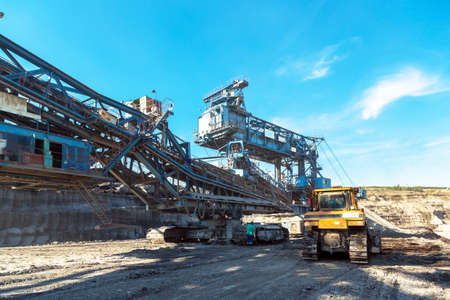 mining equipment: Mining machinery in the mine closeup