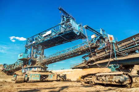 mining machinery: Mining machinery in the mine closeup