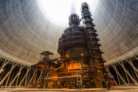 cheminee centrale nucleaire