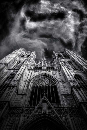 Bruxelles: Beautiful Gothic cathedral from Bruxelles Belgium