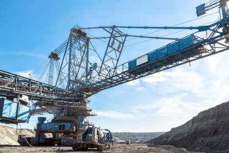 Mining machinery in the mine closeup