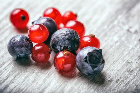 frutas del bosque fresco cerca Foto de archivo