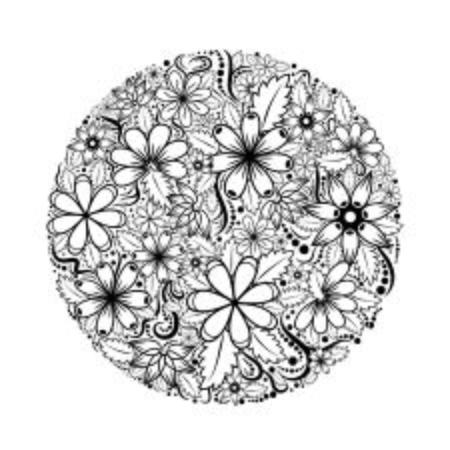 Padrão floral de vetor Foto de archivo - 89443806