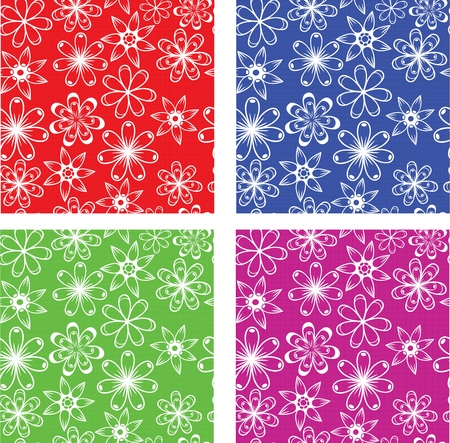 Flower pattern, vector.