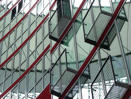 Glass and steel building in Berlin Stock Photo
