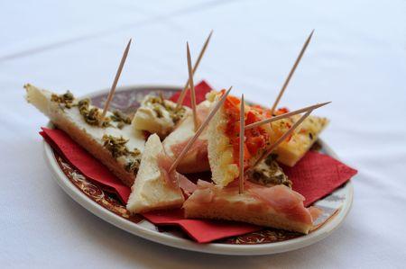 leftovers: Italian appetizers Stock Photo