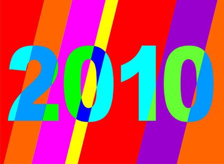 newyear: Bright vector Newyear 2010