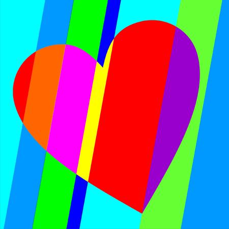 hopeful: Bright vector Valentine heart