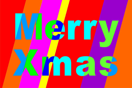 A bright, cheerful, striped, merry Xmas to you Vector