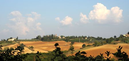 Sunny view over Passignano, Tuscany, Italy, Europe