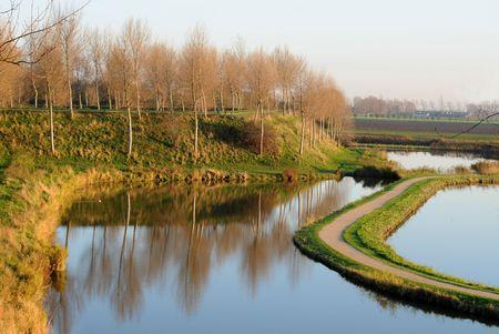 Polder view in Sluis, Zeeland, The Netherlands