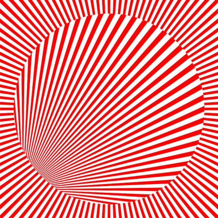 Circle in square seamless tile vector image in red and white Vector