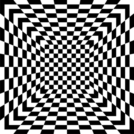 Pattern of black and white tiles, seamless Vector