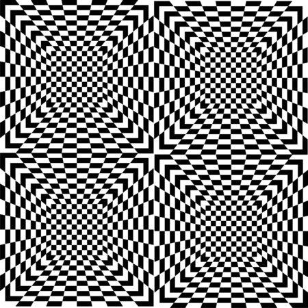 Pattern of black and white tiles, seamless Illustration