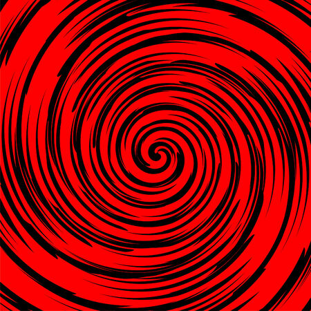 Black and red spiral in square tile Stock Vector - 6329299