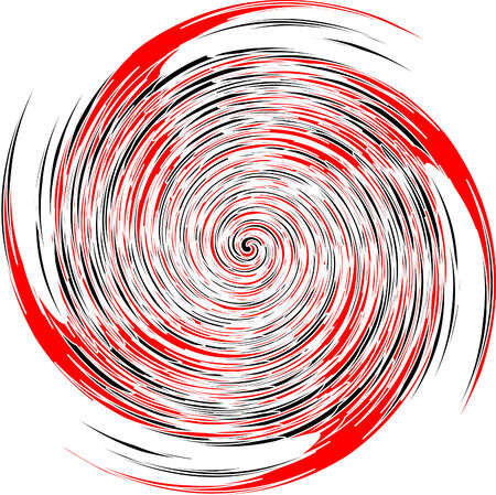 image of black, red and white spiral