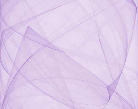fluent: Fractal with soft, fluent lilac curves and lines