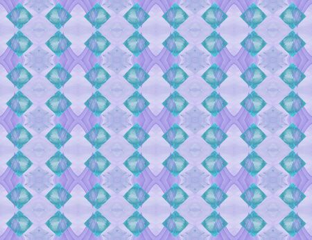 Tiled fractal pattern in violet and turquoise, seamless