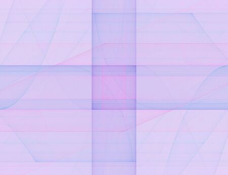 Pink, blue and lavender lined, geometrical fractal Stock Photo