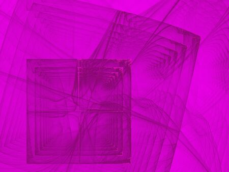 skyblue: Fractal image, purple and pink squares and curves Stock Photo