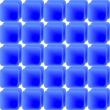 Pattern of blue gradient tiles, background image Illustration