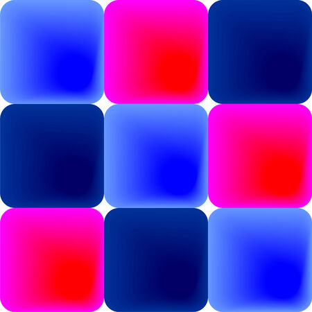 Tiles in shades of blue and pink, image Illustration