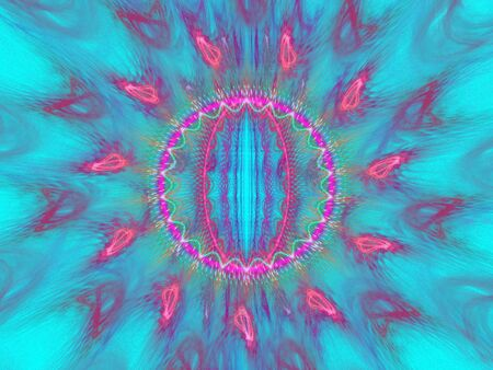 Colorful sunny fractal image in blue and pink shades Stock Photo - 6821372