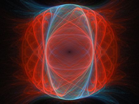 Fake planet in orange and blue on black, fractal image Stock Photo - 6821367