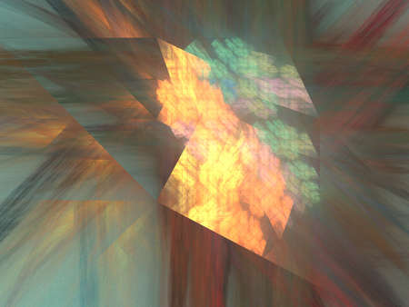 beaming: Beaming triangle pattern in autumn colors, fractal image