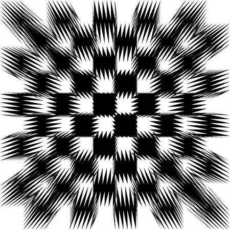 shifted: image of black and white shifted tiles