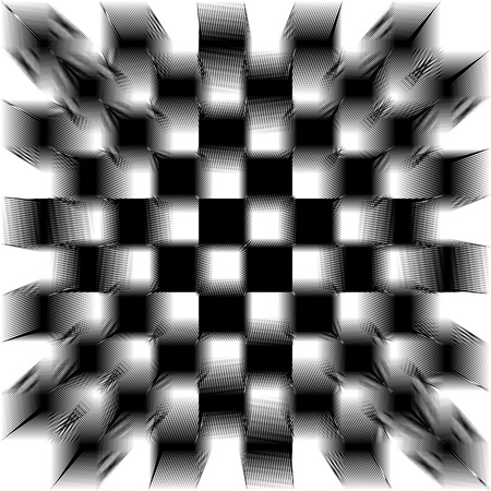 image of black and white shifted tiles