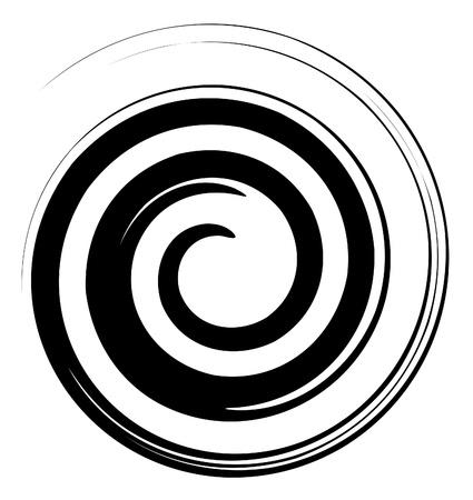 Vector image d'une spirale en noir et blanc