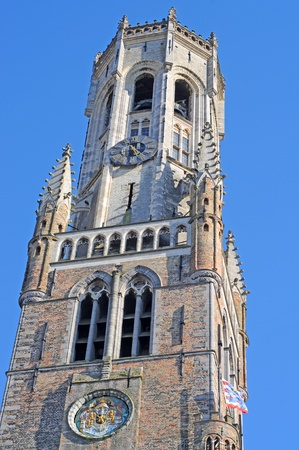 the inheritance: Belfry, Bruges, unesco world inheritance Editorial