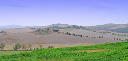 Crete senesi or siennese clays in tuscany, italy, europe