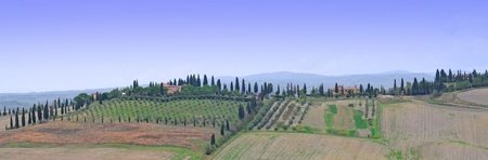 Crete senesi or siennese clays in tuscany, italy, europe photo