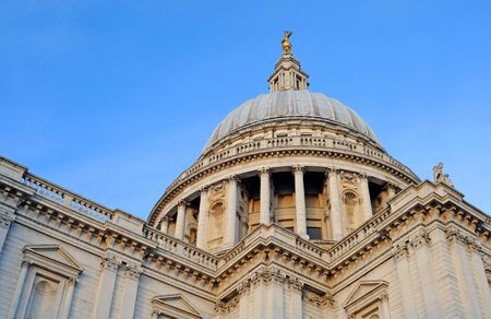 saint pauls cathedral against blue sky, london Stock Photo