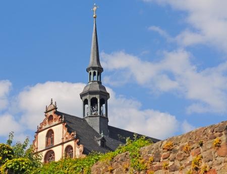 hessen: Baroque gable of benedictine nunnery in Fulda, Hessen, Germany