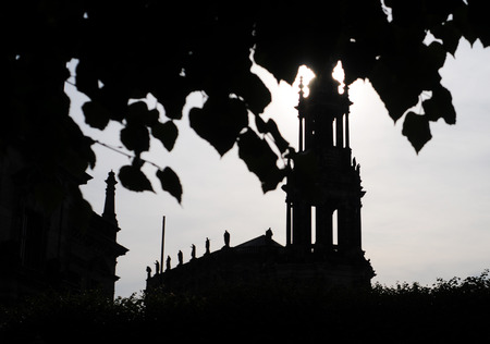silhouette of dresden hofkirche, germany