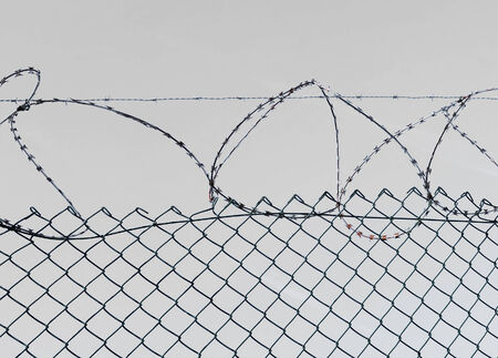 barbed wire and fence, security photo