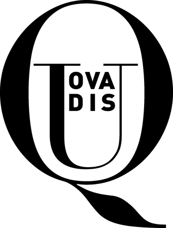 quo: Quo Vadis (Latin) or Where do you go to, in clean, strong black and white typography image, vector